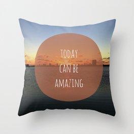 Amazing Day Throw Pillow