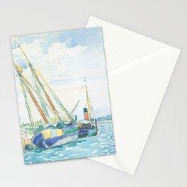 Marine Scene (Boats near Venice) by Henri-Edmond Cross1903, French Stationery Cards
