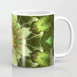 Planet Tree - Green Fractal Mandala - Manafold Art Coffee Mug