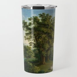 River Landscape with Elements of the English Garden at Caserta, Italy by Jakob Philipp Hackert Travel Mug