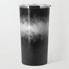 Dark Charcoal and White Abstract Travel Mug