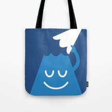 A Friendly Mountain Greeting Tote Bag