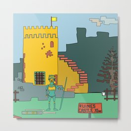 Afternoon at the Medieval Age (a) Metal Print