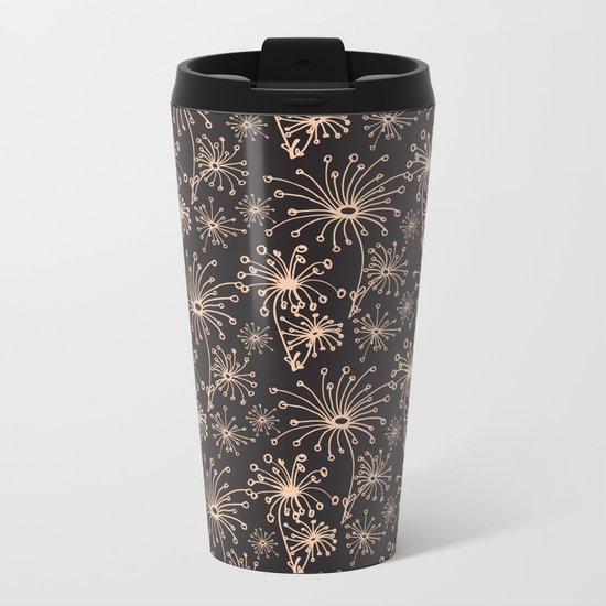 Stylized Dandelion Dark #society6 #decor #buyart Metal Travel Mug