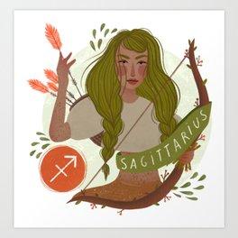 Sagittarius Zodiac Illustration Art Print