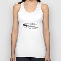 ouat Tank Tops featuring OUAT Quote |Great power requires great sacrifice by CLM Design