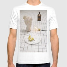 Marble Pear  MEDIUM White Mens Fitted Tee