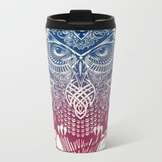 Evening Warrior Owl Metal Travel Mug