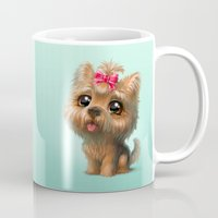 terrier Mugs featuring Yorkshire Terrier by Antracit