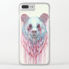 Dripping Panda Clear iPhone Case