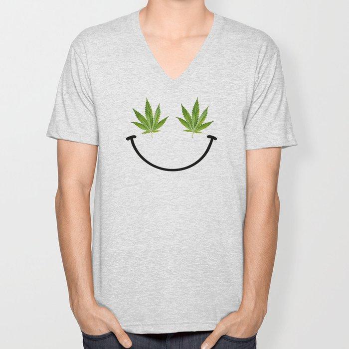 Weed Smile Unisex V-Neck