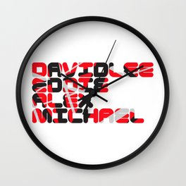 DAVID LEE EDDIE ALEX MICHAEL Wall Clock