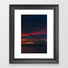 Sunset on the Island Framed Art Print