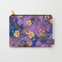 flowers purple Carry-All Pouch