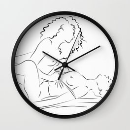 Minas - female love Wall Clock