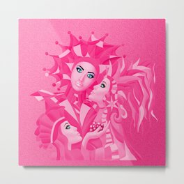 Shared Secrets in Pink Metal Print