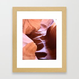 Antelope Colors Abstract Sandstone Waves Framed Art Print