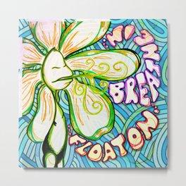 """""""Breathe In, Float On"""" Flowerkid Metal Print"""