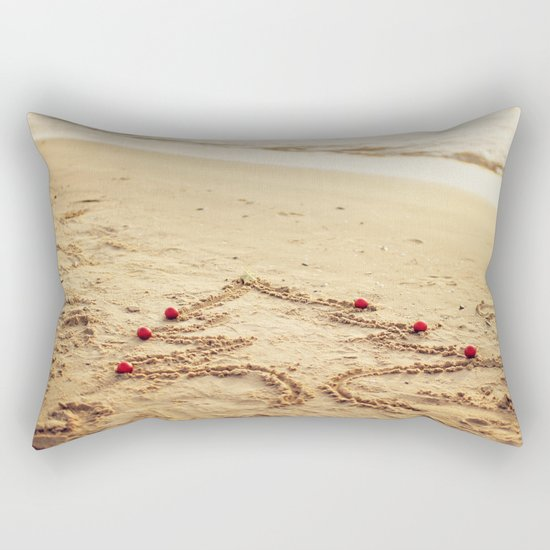 Merry Christmas! - Christmas at the beach Rectangular Pillow