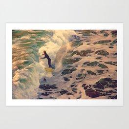 Riding the Sea Art Print