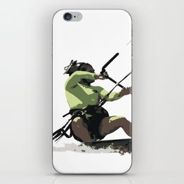 Going With The Wind Kiteboarding Vector iPhone Skin