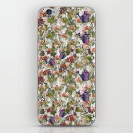 Floral with Watering Can iPhone Skin