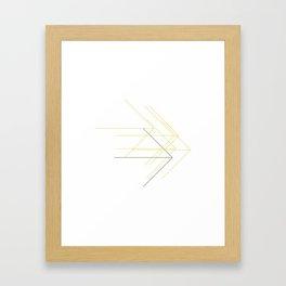 #375 Forward thinking – Geometry Daily Framed Art Print