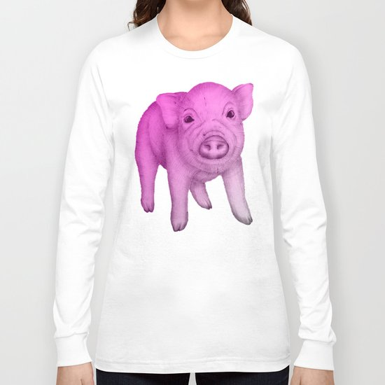 Piggy in Pink Long Sleeve T-shirt