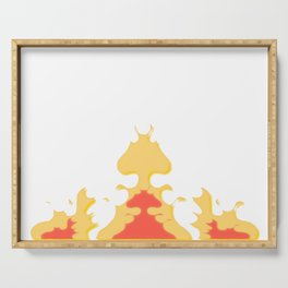 Flame crown, fire, burning, passion, emotions Serving Tray