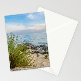 Scenic view of beautiful sunset above the Adriatic sea, Croatia Stationery Cards
