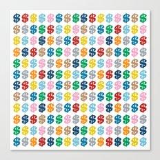 Colourful Money Repeat Canvas Print