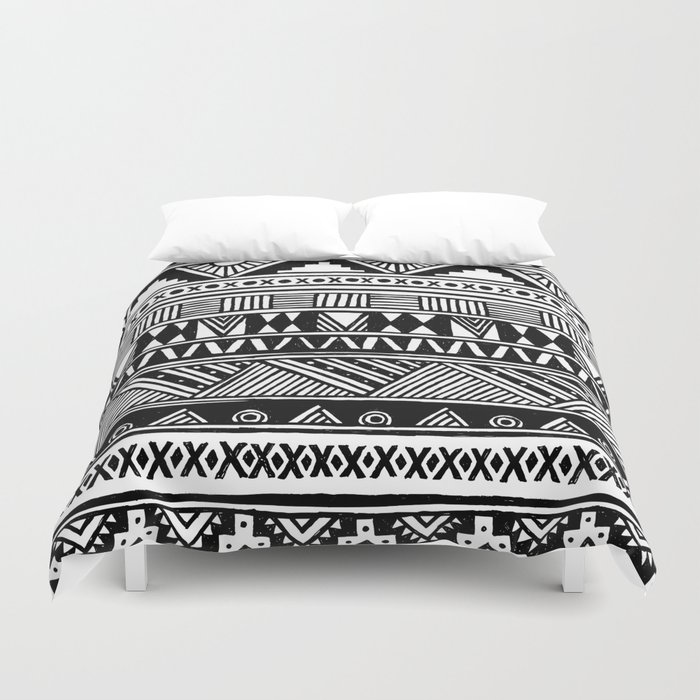 Black White Cute Girly Urban Tribal Aztec Andes Abstract Geometric