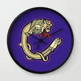 Celtic Lion Letter C 2018 Wall Clock