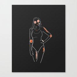 Bodylineart - Sunnies Canvas Print
