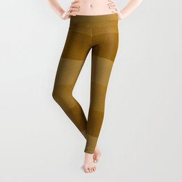Boho, Faux Suede, Colorful Stripes, Mustard Yellow Leggings