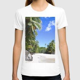 Tropical Paradise Beach Escape Island - Panama travel & palms landscape - Fine Art Print colorful 5 T-shirt