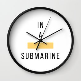 In a Yellow Submarine - Color Songs Wall Clock