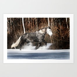 Butters tromping through the snow Art Print