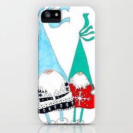 Just two Gnomes, Having a good time. iPhone Case