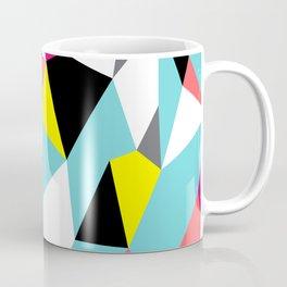 Colorful bright geometrical triangles print Coffee Mug