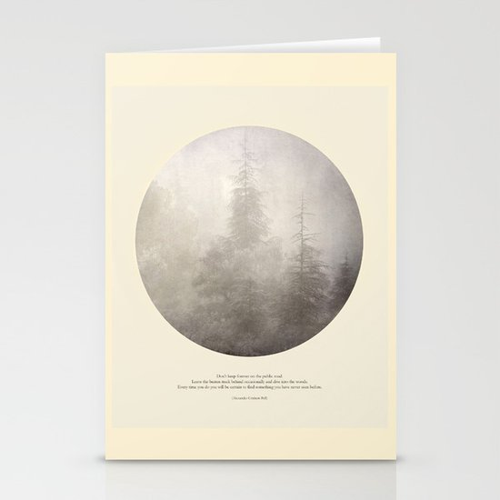 love the woods Stationery Cards