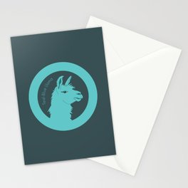 Teal-Blue Llama Stationery Cards