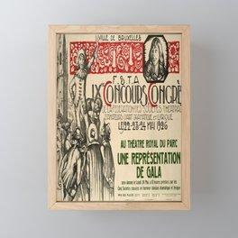 Advertisement concours congres de la federation Framed Mini Art Print