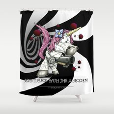 Don't f**k with the unicorn Shower Curtain