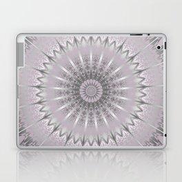 Mauve Silver Mandala Laptop & iPad Skin