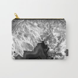 Black and White Agate Carry-All Pouch