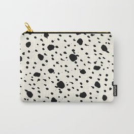 Tribal Dot Black Earth on Ivory Carry-All Pouch