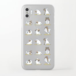 Shih Tzu Yoga Clear iPhone Case
