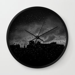 Rainy Day in Brussels Wall Clock