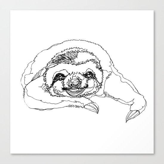 Lazy Slothurday Canvas Print